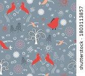 seamless pattern  hand drawn... | Shutterstock .eps vector #1803113857