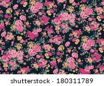 seamless vintage flower pattern | Shutterstock .eps vector #180311789