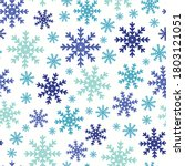 snowflakes in blue tones.... | Shutterstock .eps vector #1803121051