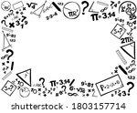 mathematics. horizontal banner. ...   Shutterstock .eps vector #1803157714