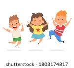 illustration of funny kids... | Shutterstock . vector #1803174817