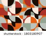 mid century geometric abstract... | Shutterstock .eps vector #1803180907