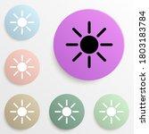 the sun badge color set. simple ...