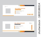 email signature template design.... | Shutterstock .eps vector #1803188314