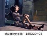 attractive young woman outdoor  | Shutterstock . vector #180320405