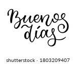 hand lettering good morning.... | Shutterstock .eps vector #1803209407