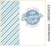 vector summer poster. creative...   Shutterstock .eps vector #180324515