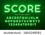 led light 3d alphabet  extra... | Shutterstock .eps vector #1803248581