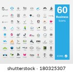 usable business icon set     Shutterstock .eps vector #180325307