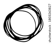 hand drawn scribble circle. ... | Shutterstock .eps vector #1803263827