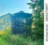 Abandoned Corn Silo Next To An...