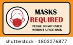 wear mask sign. wear face... | Shutterstock .eps vector #1803276877