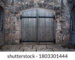Heavy Wooden Castle Double Door ...