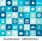 tourism and travel icon set ... | Shutterstock .eps vector #1803301621