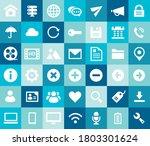 trendy flat design big ui and... | Shutterstock .eps vector #1803301624