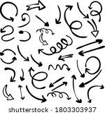 set of hand drawn arrows... | Shutterstock .eps vector #1803303937