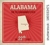 Alabama travel vintage grunge poster, vector illustration