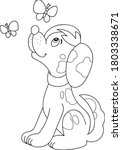 coloring page outline of... | Shutterstock .eps vector #1803338671