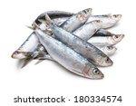 Stock photo fresh raw sardines isolated on white background 180334574