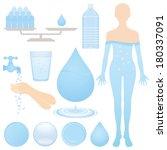 set of water illustrations. | Shutterstock .eps vector #180337091