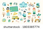 vector illustration of school... | Shutterstock .eps vector #1803385774