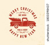 we wish you a very merry... | Shutterstock .eps vector #1803398437