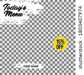 layout design food restaurant...   Shutterstock .eps vector #1803407974