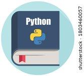 vector icon book python. image... | Shutterstock . vector #1803460057