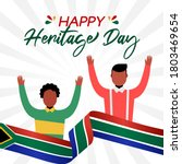 happy heritage day south africa ...   Shutterstock .eps vector #1803469654