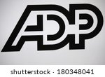 "Small photo of JANUARY 27, 2014 - BERLIN: the logo of the brand ""ADP."