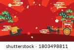 landscape scene with oxen for... | Shutterstock .eps vector #1803498811