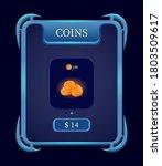 fantasy coins top up menu pop...