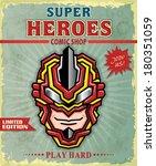 vintage super hero comic shop...