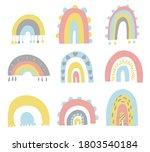 cute set of hand drawn rainbows....   Shutterstock .eps vector #1803540184