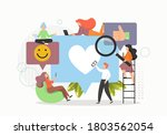 young people collecting and...   Shutterstock .eps vector #1803562054
