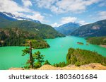Diablo Lake In North Cascades...