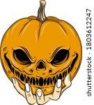the illustration of the orange...   Shutterstock .eps vector #1803612247