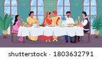 indian wedding flat color... | Shutterstock .eps vector #1803632791