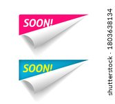 coming soon banner on corner... | Shutterstock .eps vector #1803638134
