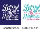 let s be mermaids printable... | Shutterstock .eps vector #1803643444