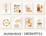 autumn abstract boho posters...   Shutterstock .eps vector #1803649711