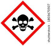 skull poison vector sign...   Shutterstock .eps vector #1803670507