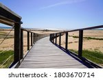 Wooden Path Access Dune Sand...