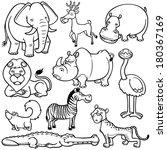 vector illustration of wild...   Shutterstock .eps vector #180367169