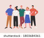 international friendship.... | Shutterstock .eps vector #1803684361
