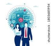 starting business. business... | Shutterstock .eps vector #1803685954