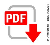 pdf file download vector icon...   Shutterstock .eps vector #1803700297
