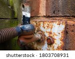 Rusty Gate Hinge And Plate...