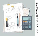 back to school concept.... | Shutterstock .eps vector #1803710677