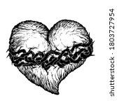 Broken Wrinkled Heart With...